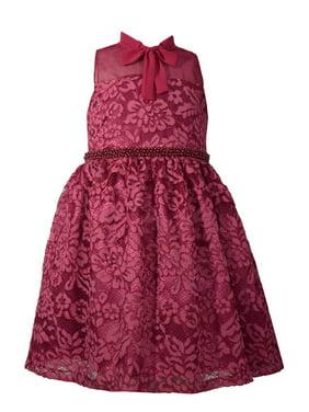 44e1434af Product Image Bonnie Jean Big Girls 7-16 Sleeveless Beaded Waist Holiday  Party Dress