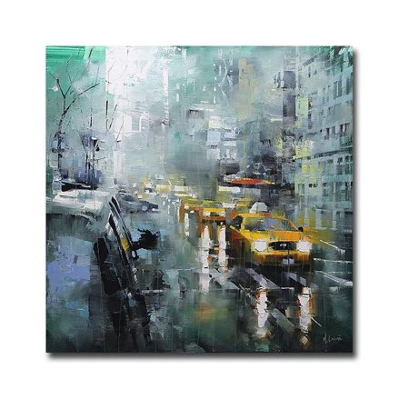 New York Rain by Mark Lague Premium Gallery-Wrapped Canvas Giclee Art - Ready-to-Hang, 30 x 30 x 1.5 in. - image 1 de 1