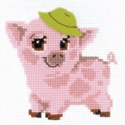 """Piglet Counted Cross Stitch Kit, 6"""" x 6"""" 10 Count"""
