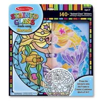Melissa & Doug Stained Glass Made Easy Activity Kit: Mermaids - 140+ Stickers