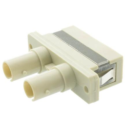 Offex Fiber Optic Adapter, ST Female to SC Female, Duplex, Plastic Housing