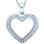 Gold and Diamonds PH2229-W 0.10CT-DIA HEART PENDANT- Size 7