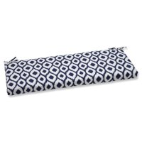 Pillow Perfect Outdoor/ Indoor Bench Cushion with Bella-Dura Shivali Navy/White Fabric