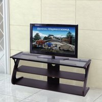 Costway 3-Tier Tempered Glass Top TV Stand Entertainment Center Media Console Furniture