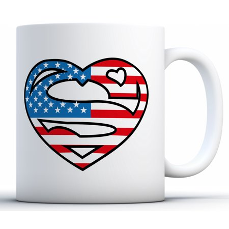 Awkward Styles Super American Coffee Mug USA Themed Mug USA 4th of July Gifts 4th of July Accessories 4th of July Kitchen Decoration Independence Day USA Flag Mug Coffee Lovers Gifts