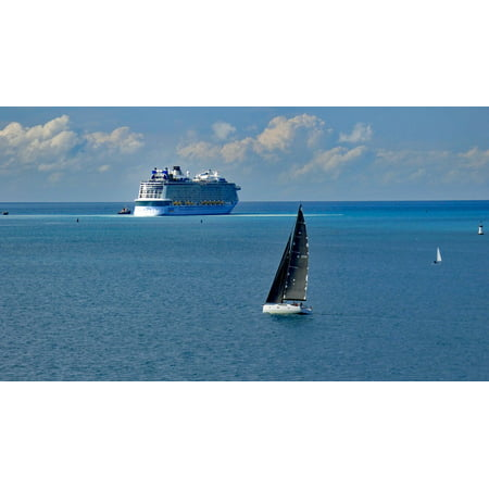 Canvas Print Sailboat Cruise Ship Bermuda Cruising Travel Ocean Stretched Canvas 10 x (Best Cruising Sailboat For Single Hand)