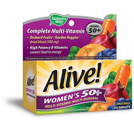 Alive Natures Way Once Daily Womens 50+ High Potency Multivitamin 50