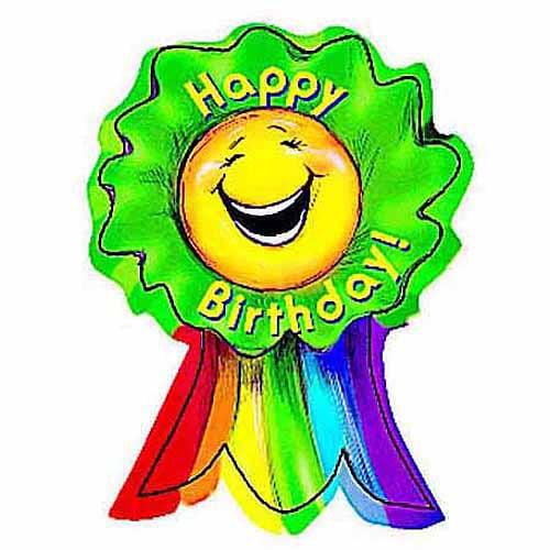 "Creative Teaching Press Adhesive Smiling Ribbon Rewards, Happy Birthday, 3"" x 3.5"", Pack of 36"