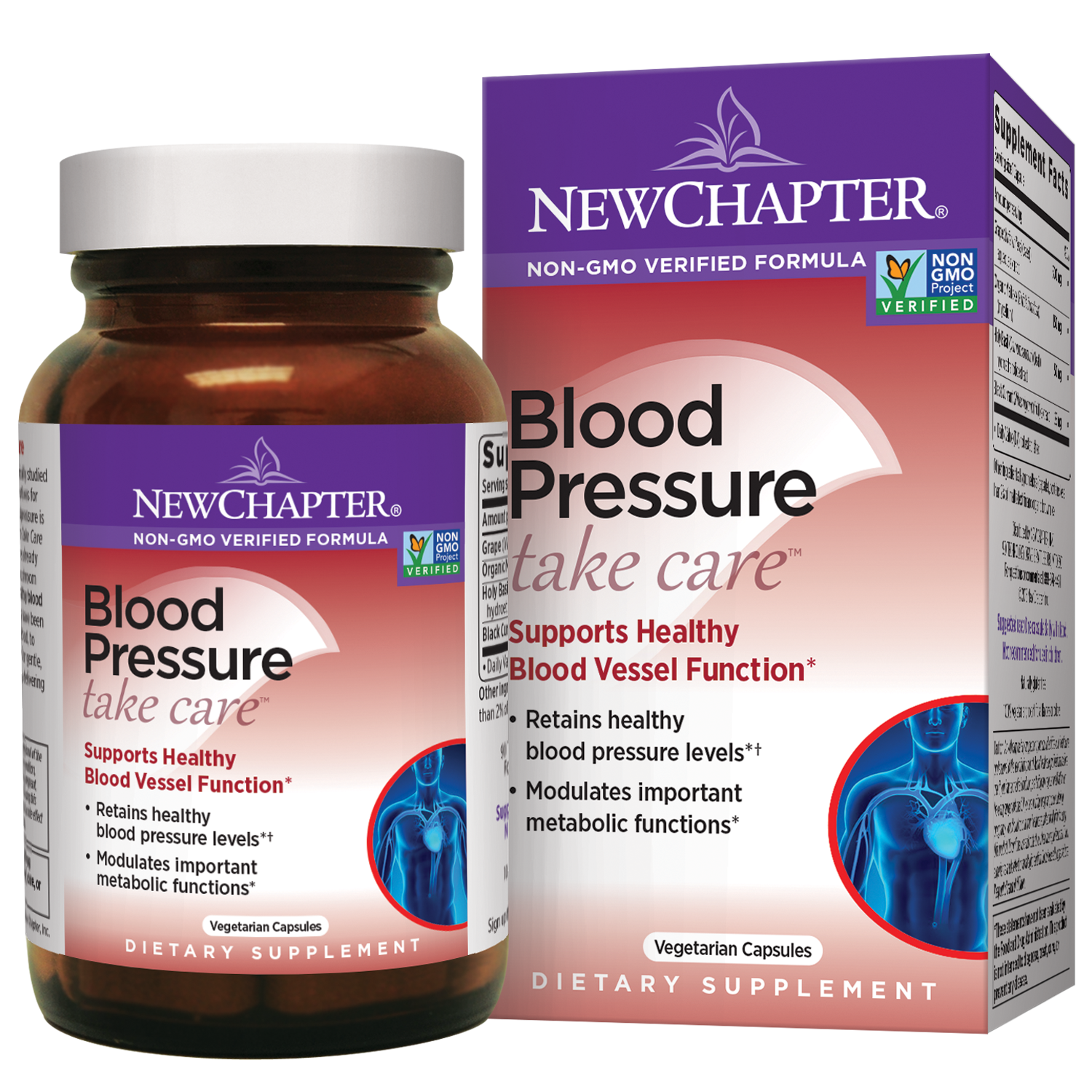 New Chapter Blood Pressure Take Care Vegetarian Capsules, 30 Ct