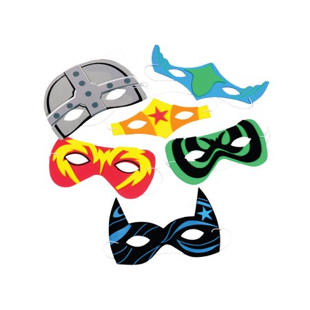(Price/Dozen)US TOY CM56 Foam Superhero Masks