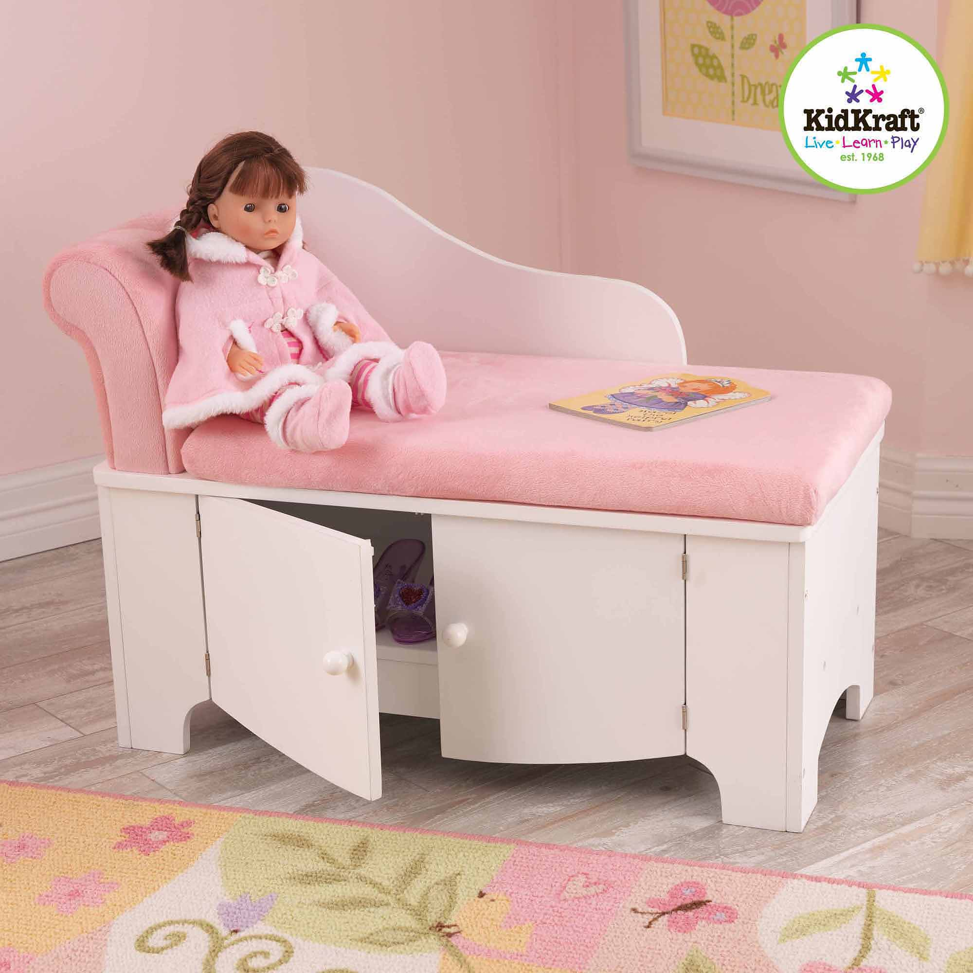 KidKraft Princess Chaise Lounge with Storage