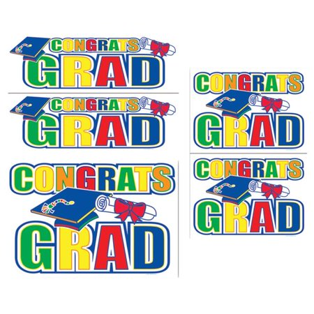 Morris Costumes BG55082 Congrats Grad Auto-Clings ()