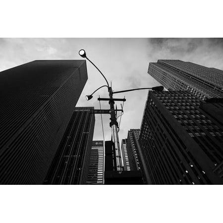 Canvas Print Downtown Urban Street Light Street City Skyscraper Stretched Canvas 10 x 14