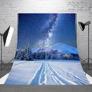 DODOING 5X7ft/ 7x5ft White Snow Winter Tree Road Photography Backdrop Bokeh Wonderland Background Snowflake Glitter Newborn Baby Portrait Photobooth Christmas Party Decorations Photo Studio Props