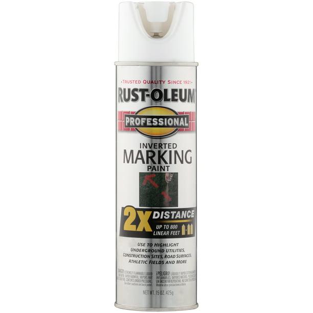 Rust Oleum Professional White Inverted Marking Spray Paint 15 Oz Walmart Com Walmart Com