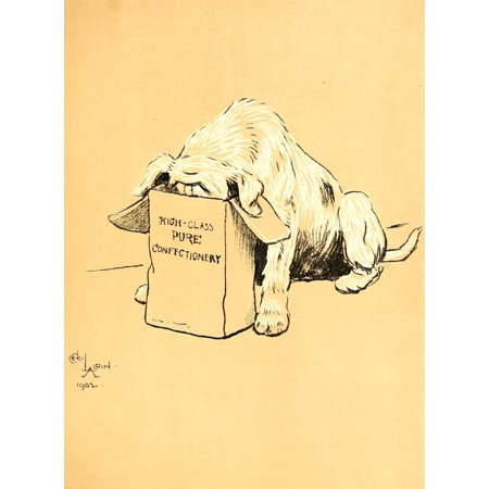 Image of A Dog Day 1902 Easting sweets Canvas Art - Cecil Aldin (24 x 36)