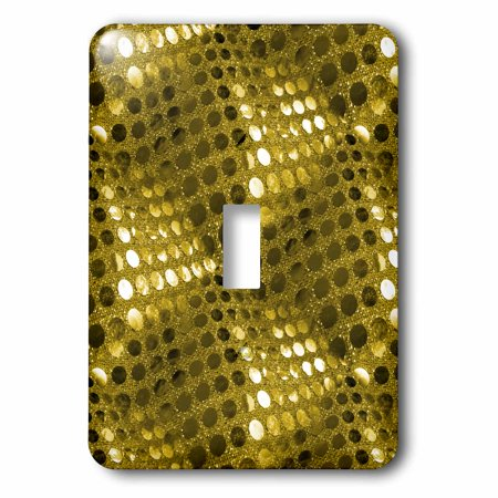 Fabric Outlet (3dRose Gold Sequin Fabric Effect Photograph, 2 Plug Outlet Cover )