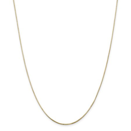 (14k Yellow Gold 1.20mm Octagonal Snake Chain Necklace 20 Inch Pendant Charm For Women)