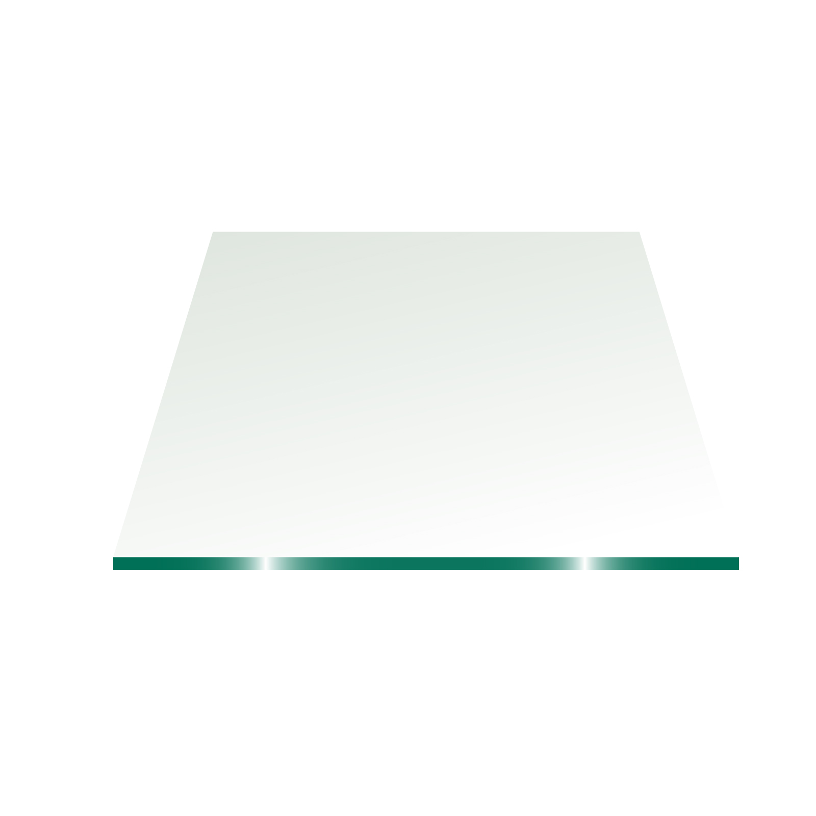 """37"""" Square Glass Top 3/8""""  Thick - Flat Polish Edge with Touch Corners"""