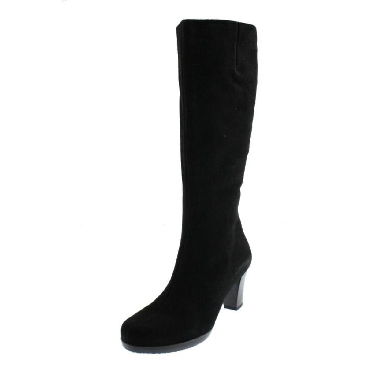 La Canadienne Womens Kara Suede Side Zip Knee-High Boots