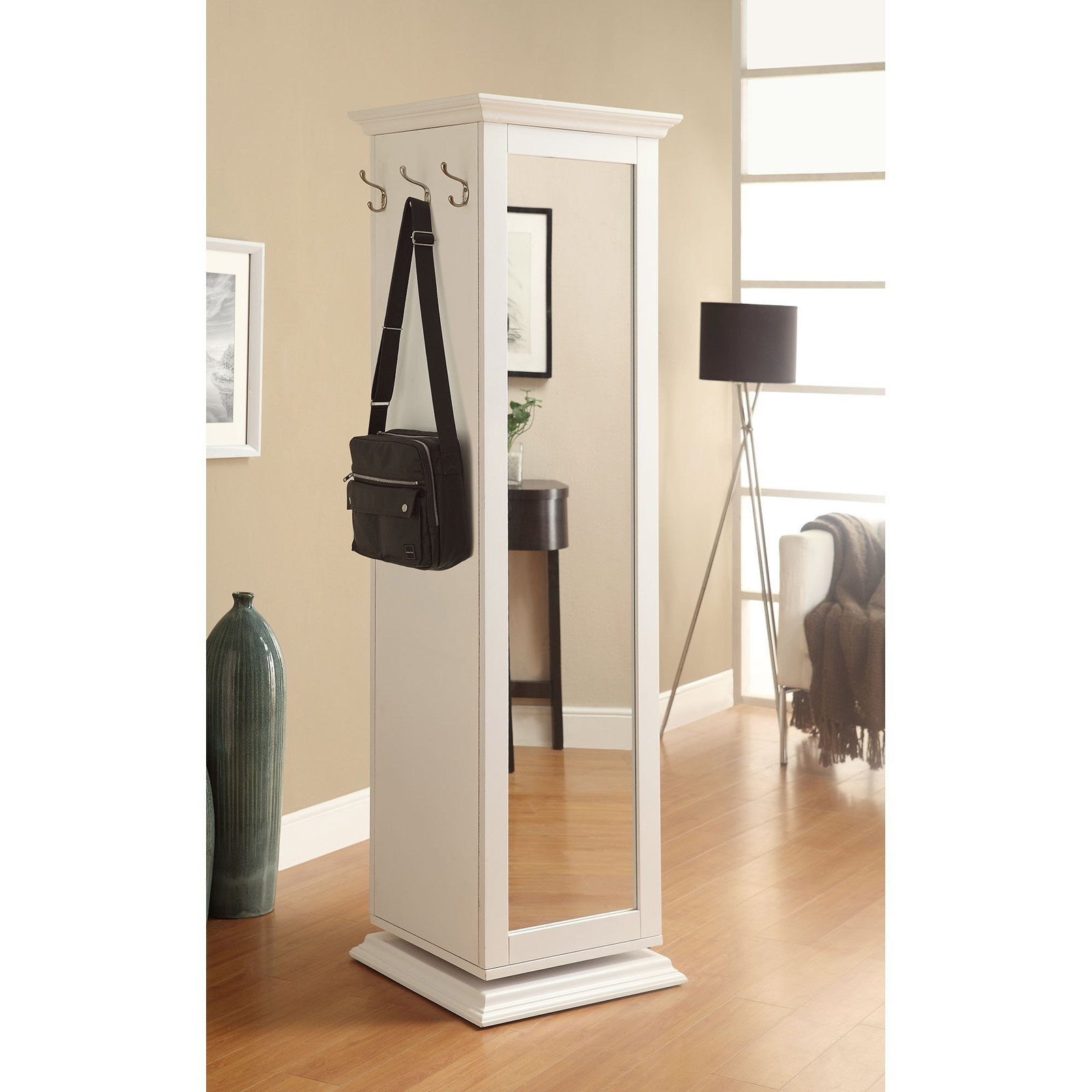 Coaster Company Swivel Cabinet, White