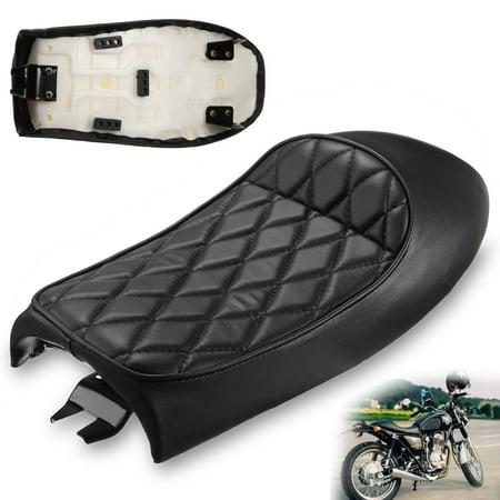 Universal Motorcycle Cafe Racer Seat Flat Brat Hump Saddle For Honda  Kawasaki