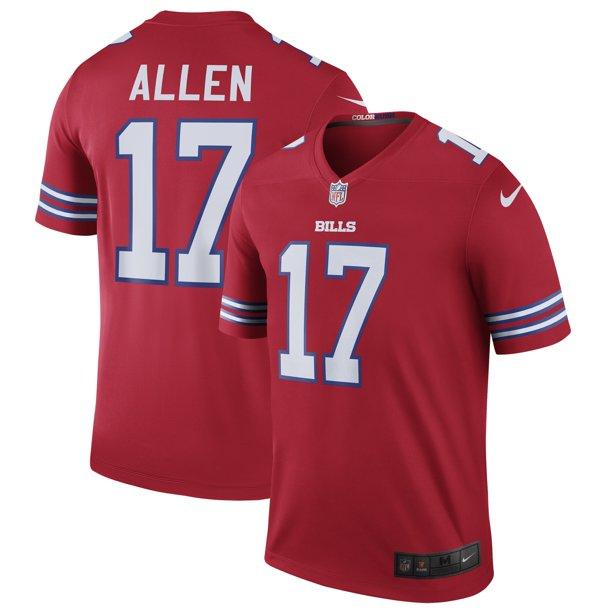 Josh Allen Nike Buffalo Bills Color Rush Legend Jersey - Red ...