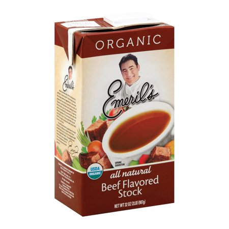 Emeril Organic Beef Stock - Pack of 6 - 32 Oz.