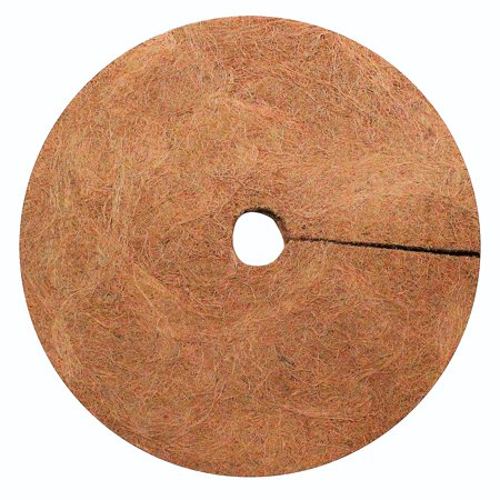 Envelor Coco Fiber Tree Ring Coir Mulch Mat Disc Plant Cover Protector Coconut Fibers Natural Weed Control Mat Indoor Outdoor 24 Inches Dia 20 Pack (Coconut Husk Brick)