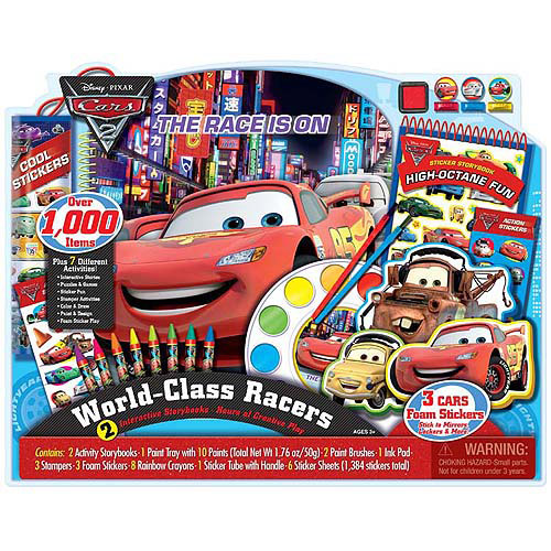 Disney Cars World Class Racers Storybook and Activity Set