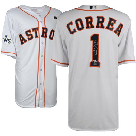 - Carlos Correa Houston Astros 2017 MLB World Series Champions Autographed Majestic World Series White Replica Jersey - Fanatics Authentic Certified