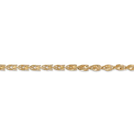 14K Yellow Gold 3.5mm Marquise Chain 18 Inch - image 4 de 5