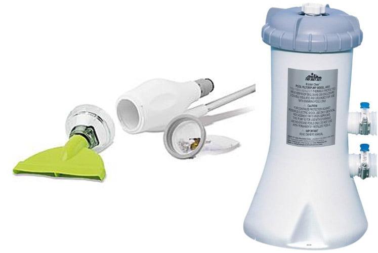 Intex 530 GPH Easy Set Swimming Pool Filter Pump and Kokido Skooba Vacuum by Intex
