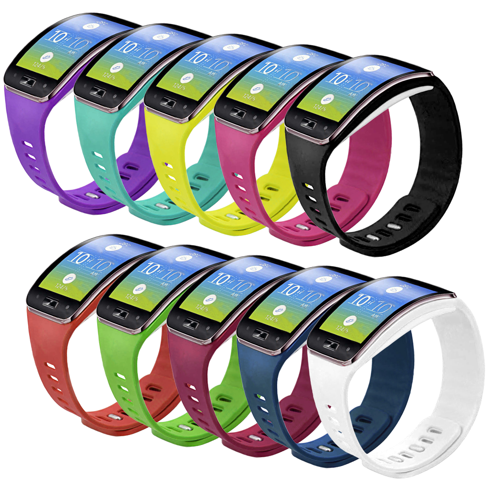 EEEKit 10 Pcs Soft Tpu Replacement Watch Band Wrist Strap for Samsung Gear S Sm-R750