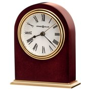 "Howard Miller 645401 5-1/4"" X 4-1/4"" Craven Hardwood Analog Table Top Clock - Pink"