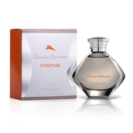Tommy Bahama Compass Eau de Cologne Natural Exotic Perfume For Men, 3.4 Fluid Ounces (100 Millilitres)