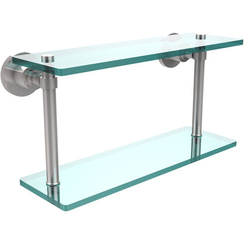 """Washing Square Collection 16"""" 2-Tiered Glass Shelf (Build to Order)"""
