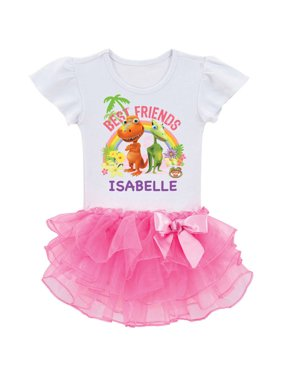 Personalized Dinosaur Train Best Friends Toddler Girl Tutu Tee