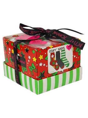 Betsey Johsnon Ladies 3pk Stars & Stripes Cozy Sock Box