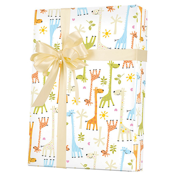 7b5777aa3232 Giraffe Baby Shower Gift Wrap Wrapping Paper 15ft Roll - Walmart.com