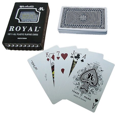 Trademark Poker One Deck, Royal Plastic Playing Cards with Star Pattern, Blue