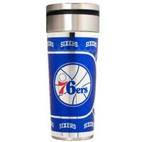 Philadelphia 76ers 22 oz. Stainless Steel Big Slim Travel Tumbler