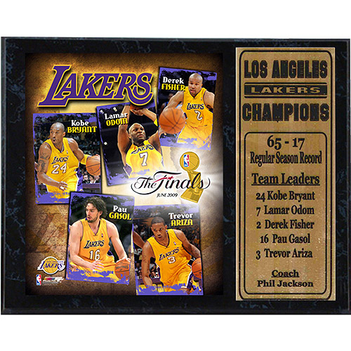 NBA Los Angeles Lakers Stat Plaque, 12x15