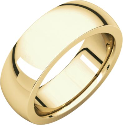 Roy Rose Jewelry 10K Yellow Gold 7mm Heavy Comfort Fit Wedding Band Ring Size 9