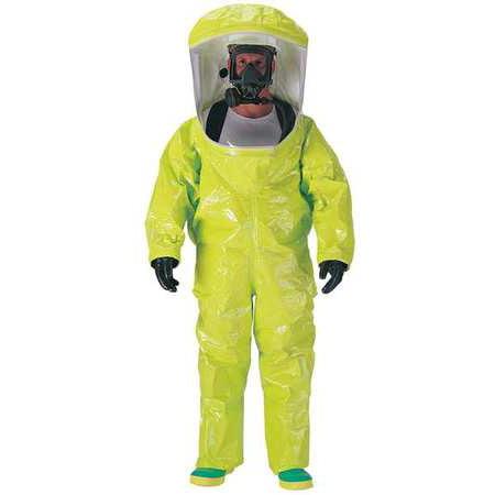 DUPONT Encapsulated Training Suit,Lvl A,Rear,XL TK587SLYXL000100