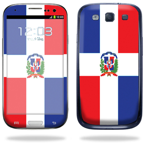 Mightyskins Protective Vinyl Skin Decal Cover for Samsung Galaxy S III S3 Cell Phone wrap sticker skins Dominican flag