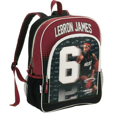 2a9db45d2f NBA - Miami Heat  6 Lebron James 3-D Backpack - Walmart.com