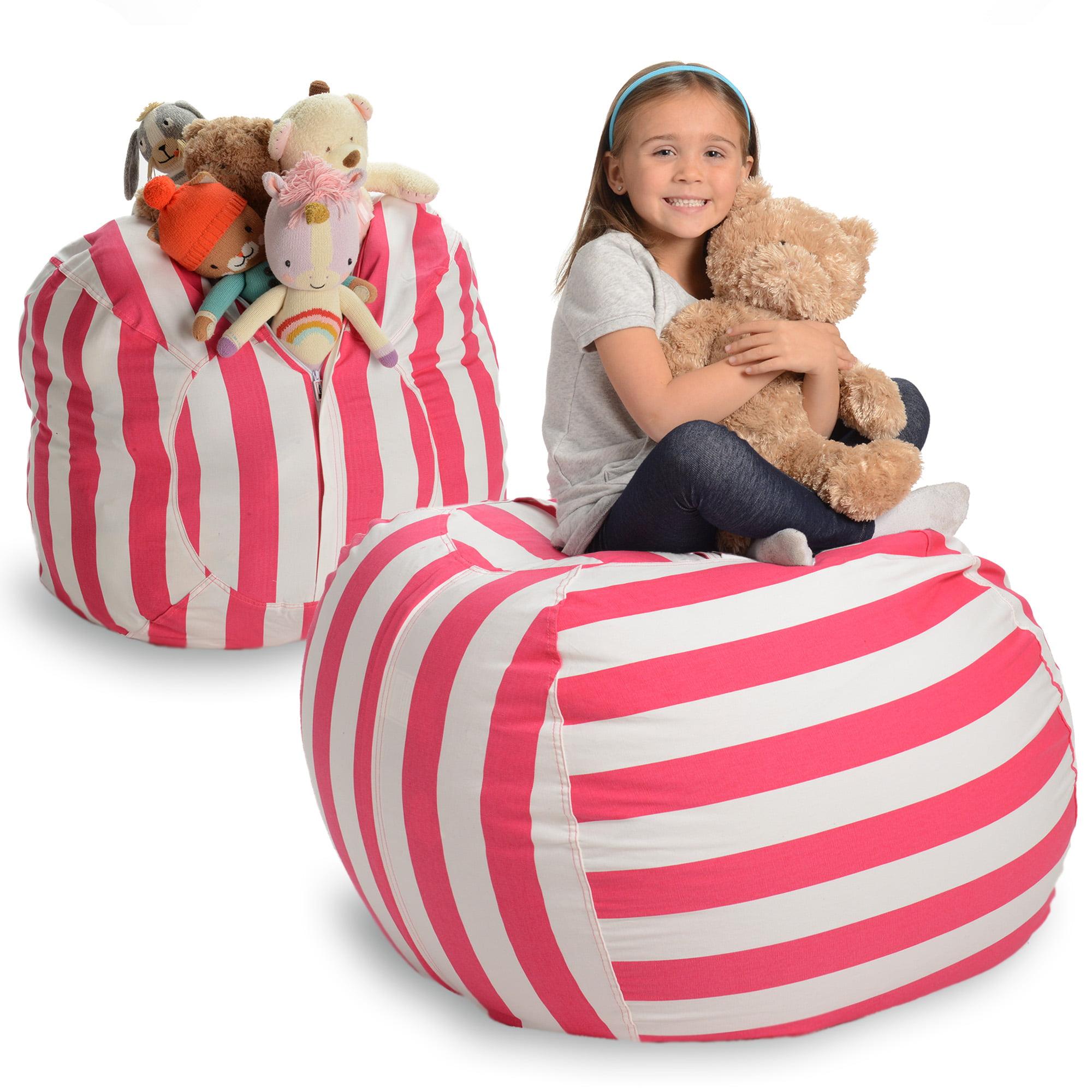 "EXTRA LARGE Stuff and Sit Stuffed Animal Storage Bean Bag 38/"" Toy Storage Bags"