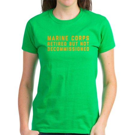 a3abd649 CafePress - CafePress - Marine Corps Retired Not Deco - Women's Dark T-Shirt  - Walmart.com