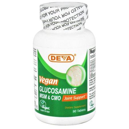 Deva Nutrition Msm Glucosamine et tablettes de soutien interarmées CMO, Vegan - 90 Ea